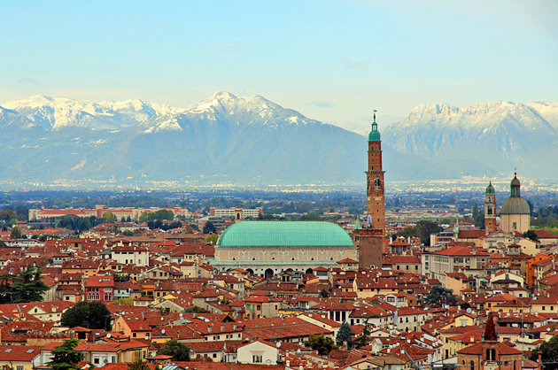 Vicenza and mountains
